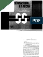 DURKHEIM, E-Ciencia Social e acção
