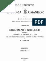Hurmuzaki, DIR, Vol 14.2 (Doc. Grecesti 1716-1777)