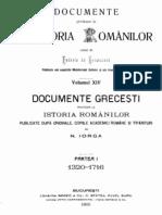 Hurmuzaki, DIR, Vol 14.1 (Doc. Grecesti 1320-1716)