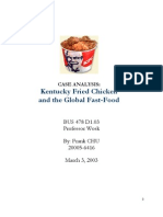 KFC and Food Industry Analysis
