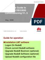 0301 the Guide to HUAWEI DBS3800 Commissioning V1.5