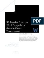 50 Puzzles from the 2013 Cappelle la Grande Chess Tournament