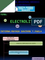 EXPOSICION ELECTROLITOS