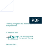 Training Surgeons for Future Service Requirements