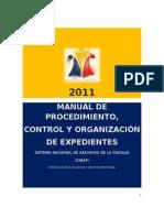 ManualProcedimientoControlOrganizacionExpedientes