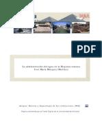 Blázquez, J.M. Administración del agua en la Hispania romana