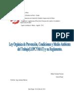 Ley Orgánica de Prevención(trabajo)