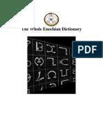 The Whole Enochian Dictionary