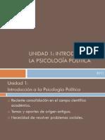 INTRODUCCIÓN A LA PSICOLOGÍA POLÍTICA