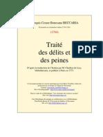 Beccaria Delits Et Peines