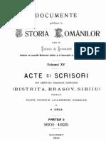 Hurmuzaki, DIR, Vol 15.2 (Scrisori Ardelene 1601-1825)