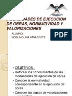 Modalidades de Ejecucion de Obras, Normatividad y