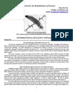 Nevada Cure Informational Bulletin Newsletter 3 - Spring 2013