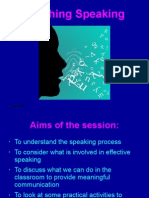 Teaching Speaking 2013