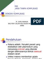Tatalaksana kasus malaria (dinkes prop).ppt