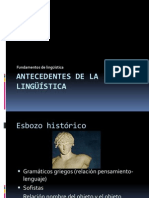 Antecedentes de La Linguistica.p.p
