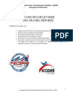 II Copa Icoder Fecopa 2013