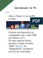 Ative a sincronização via Wi