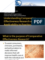 Understanding Comparative Effectiveness Research and Applicability to Practice