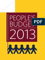 Peoples Budget 2013