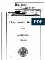 Close Combat Weapons