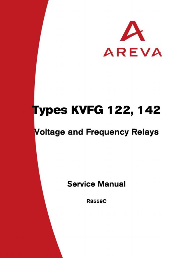 areva kvfg r8559c relay electrostatic discharge rh scribd com