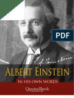 Einstein in His Own Words