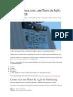 5 Passos para criar um Plano de Ação de Marketing