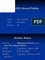 Biografi KH Ahmad Dahlan