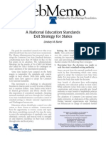 A National Education Standards Exit Strategy for States