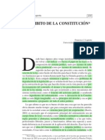 El ámbito de la Constitución (Francisco Laporta)