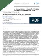 Efectividad de los instrumentos administrativos de sanción y exigencia de la reparación del daño ambiental en Colombia