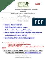 Pathways to Inclusive Practices Workshop