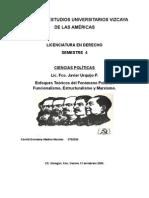 Enfoques Teóricos Del Fenómeno Político Funcionalismo Estructuralismo y Marxismo