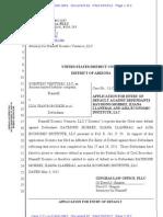 82 - Application for Entry of Default vs. Raymond