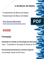 ADMBD Senai Vila Alpina - Aula 01