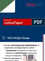 20 Lockout Tagout