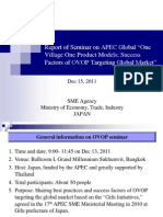 14.6 APEC Global One Village One Product Seminar