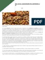 Activar Semillas, Enzimas Nutrientes y Demas