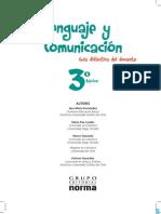 Lenguaje y Comunicación - 3° Básico (GDD)
