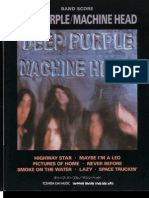 Deep Purple Machine Head Band Score Jap