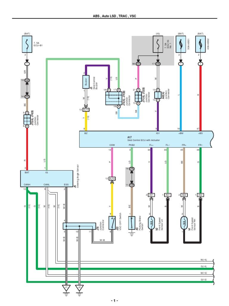 Toyota Corolla Repair Manual: RightLeft rear speed sensor circuit