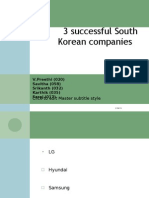 3 Successful South Korean Companies