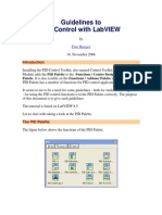 Guidelines to Pid Controll -Labview