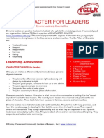 Character for Leaders
