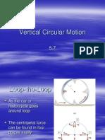 5-7 Vertical Circular Motion