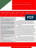 University of Houston Investment Banking Scholars Finance Journal