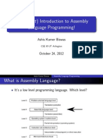 Very Short Intro to Assembly Language Programming