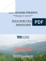 Tata Housing Luxury Residence in Kasauli. Book your dream villa !!