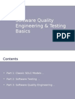 Software Quality Engineering & Testing Basics